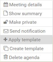 agenda-options